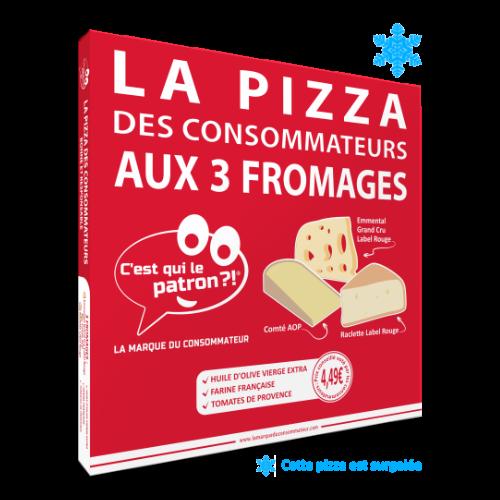 Pizza surgelé aux 3 fromages des consommateurs - C'est qui le Patron