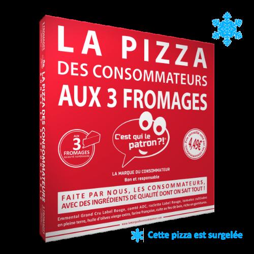 Pizza aux 3 fromages des consommateurs - C'est qui le Patron