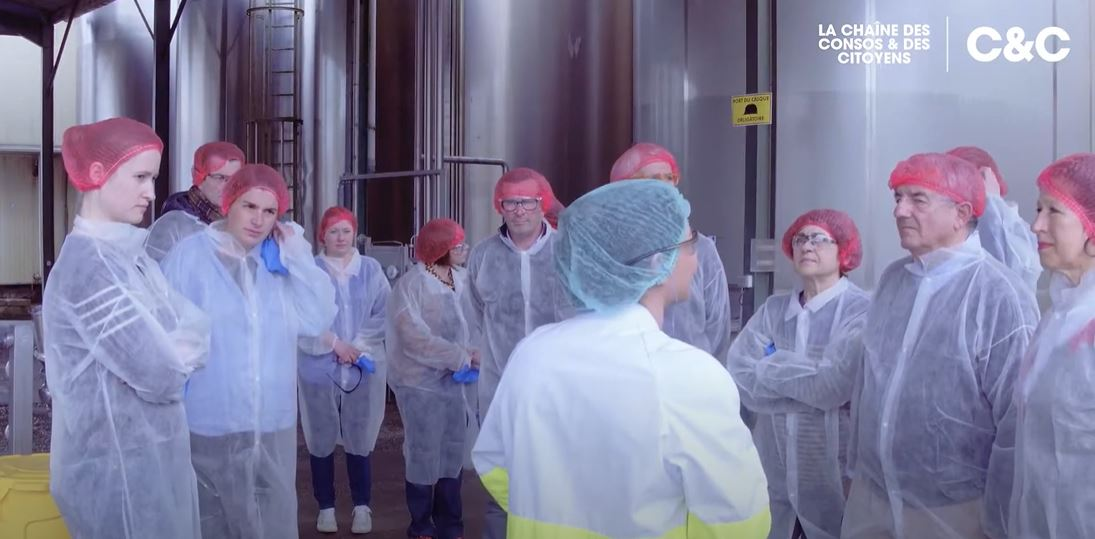Visite sociétaires usine beurre de baratte C'est qui le patron