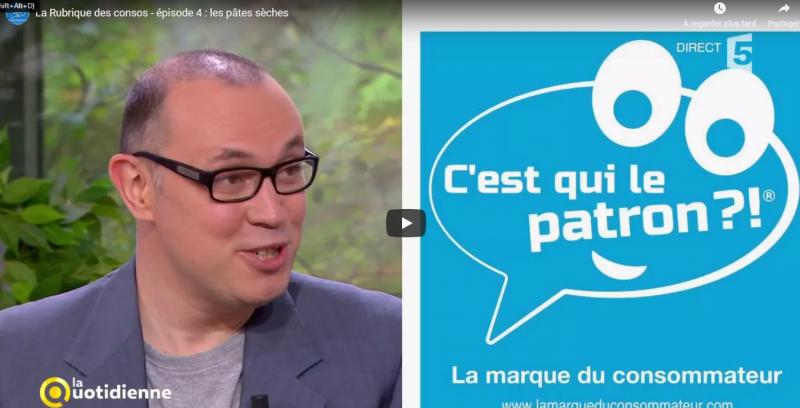 FRANCE 5 (La Quotidienne) – Les pâtes – « C'est qui le ...