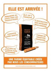 Baguette farine équitable crée par les consommateurs