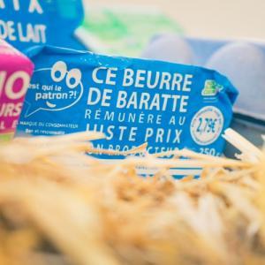 Plaquette beurre de baratte des consommateurs - C'est qui le Patron