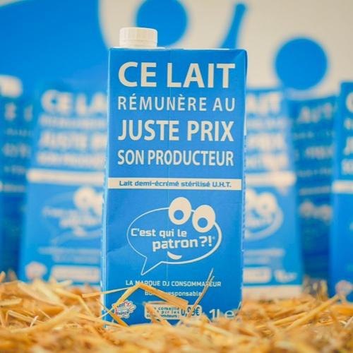 Brique de lait demi-écrémé des consommateurs - C'est qui le Patron