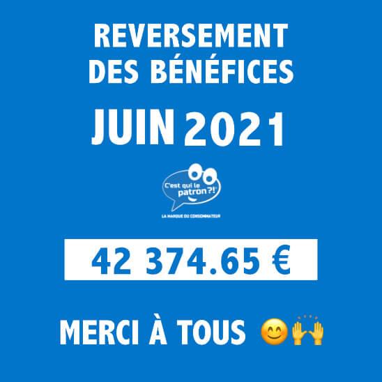 Bénéfices de juin 2021